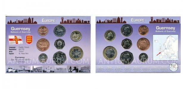 Sada oběžných mincí GUERNSEY