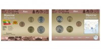 Sada oběžných mincí BARMA ( MYANMAR )
