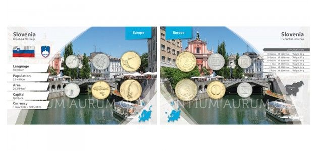 Sada oběžných mincí SLOVINSKO II