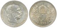 1 KORUNA 1902 FRANT. JOSEF I.