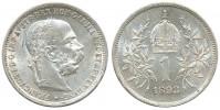 1 KORUNA 1893 FRANTIŠEK JOSEF I. (1848 - 1916)