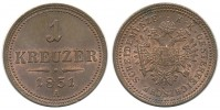 1 KREUZER 1851 A FRANTIŠEK JOSEF I. (1848 - 1916)