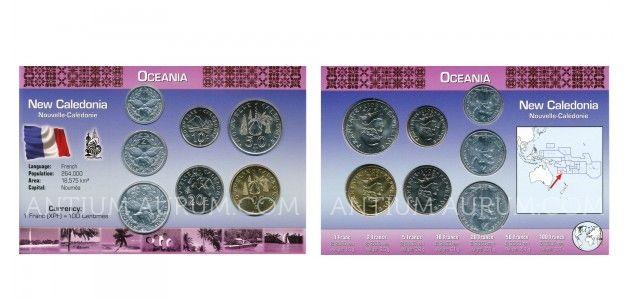 Sada oběžných mincí NOVÁ KALEDONIE (NEW CALEDONIA, NOUVELLE-CALÉDONIE)