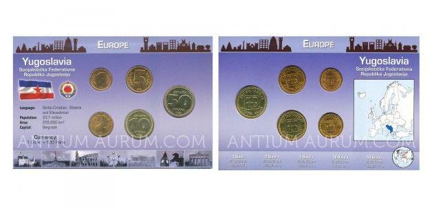 Sada oběžných mincí JUGOSLÁVIE (YUGOSLAVIA)