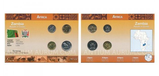 Sada oběžných mincí ZAMBIE (ZAMBIA)