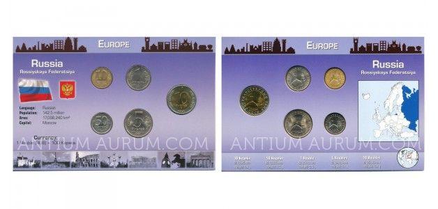 Sada oběžných mincí RUSKO 5 mincí (RUSSIA, 5 COINS)
