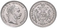 10 KREUZER 1868 FRANTIŠEK JOSEF I. (1848 - 1916)