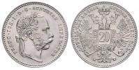 20 KREUZER 1868 FRANTIŠEK JOSEF I. (1848 - 1916)