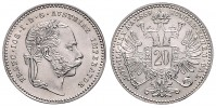 20 KREUZER 1869 FRANTIŠEK JOSEF I. (1848 - 1916)