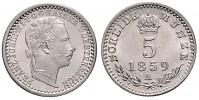 5 KREUZER 1859 A FRANTIŠEK JOSEF I.